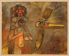 Roberto Matta Echaurren (1911-2002) A Painting, 1956, oil on canvas (Sergei P. Zubkov) Tags: november art painting czech prague praha fair palace trade 2011 veletrn