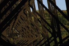 Trestle Tunnel (FSHMNKY) Tags: railroad trestle bridge autumn landscape nikon rust unitedstates perspective iowa unionpacific boone ogden repeating uprr 2013 d80 kateshelley