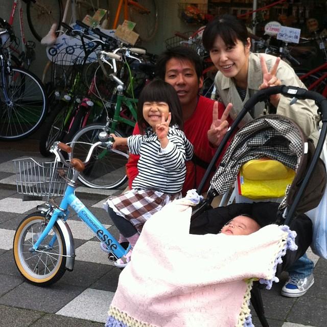本日のお客様☆14インチの自転車を簡単に乗っちゃいました! #eirin #kids #子供自転車 #14㌅