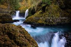 The Autumn Spirit (pdxsafariguy) Tags: blue autumn rock waterfall washington falls tomschwabel littlewhitesalmon spiritfalls