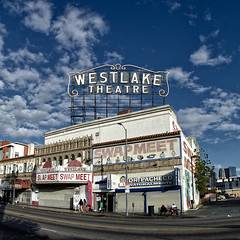 westlake theatre. los angeles, ca. 2013. (eyetwist) Tags: eyetwistkevinballuff losangeles los angeles macarthurpark westlaketheatre marquee westlake theatre theater landmark swapmeet swap meet converted wilshire blvd sign type typography clouds nikon nikond7000 d7000 nikkor 18200mmf3556gvrii alienskin exposure signage signs processed photoshop postprocessed postprocessing filter lightroom lr4 cs6 typographic angeleno socal square 18200mm nik color efex nikcolorefex pacheco naturalmente macarthur park eyetwist alvarado