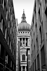 November 8th: The Old and The New (markkeohane) Tags: blackandwhite london nikon stpaulscathedral paternostersquare nikon1855mm d300s