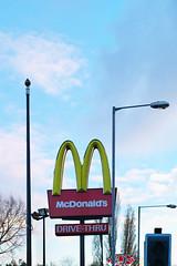 Drive-Thru (kh1234567890) Tags: sign manchester 50mm pentax burger mcdonalds chorlton k7 smcpentaxm50mmf14 smcpm50mmf14