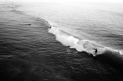(a | e) Tags: ocean trip travel bw film america pier surf surfer wave oceanside ilford