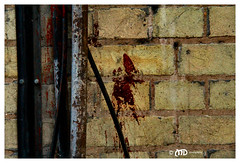 Crime scene (La_Marghe) Tags: stain wall canon blood bricks plumbing bloodstain yabbadabbadoo canonefs18200mmf3556is eos550d