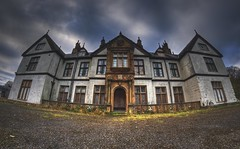 Eternal Darkness Hotel (Kriegaffe 9) Tags: abandoned clouds hotel decay ruin arches fisheye explore derelict explored