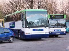 Notts&Derby 54 Derby (Guy Arab UF) Tags: road bus ex buses coach mod derbyshire meadow depot premiere dennis 54 dart derby javelin 934 plaxton nottsderby wellglade wellgladegroup r934rau hf02flw