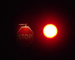 STOP (Simon Corble) Tags: winter england night dark trafficlight nationalpark december village roadworks derbyshire peakdistrict nighttime stop redlight whitepeak peakdistrictnationalpark monyash