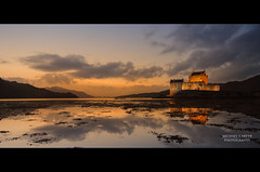 Eilean Donan Castle - Afterglow (Michael Carver Photography) Tags: winter sunset castle clouds reflections landscape scotland highlands scottish loch eileandonancastle
