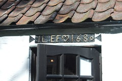 Falkland, Marriage Lintel, lots of these in the village, initials of couple and marriage date.