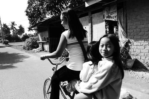 Bike ride with mum