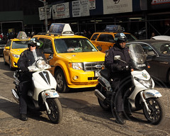 NYPD Scooter Police Officers, 2014 Super Bowl XLVIII Boulevard on Broadway, Manhattan, New York City (jag9889) Tags: seattle city nyc ny newyork newjersey boulevard stadium manhattan nfl broadway police nypd scooter denver meadowlands motorcycle seahawks superbowl metlife broncos department lawenforcement finest afc nfc officers 2014 firstresponder xlviii jag9889 20140202