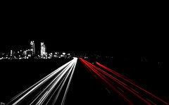 Highway lights (Pito Charles) Tags: light cars car night lights highway long exposure lyon lumire voiture exposition lumiere autoroute nuit phare lumires lumieres longue phares