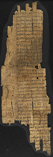 From flickr.com/photos/12403504@N02/12459393864/: papyrus document