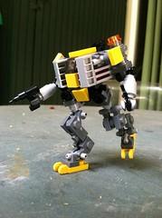 Riesen Corp. LF-001 (scifizombie) Tags: mobile lego frame zero mecha mech microscale mfz mobileframezero microlegolaborscale7pmechazeroframemobileflickriosappfilternofilteruploadedbyflickrmobile