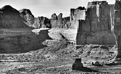 Arches b&w (George Reader DC) Tags: rock utah arches erosion moab archesnationalpark nationalparks americanwest coloradoriverbasin