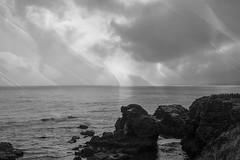 Rocas (seguicollar) Tags: imagencreativa photomanipulación art arte artecreativo artedigital virginiaseguí mar rocas cielo nubes texturas blancoynegro blackandwhite