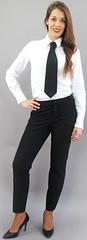 France Prestige (bof352000) Tags: woman tie necktie suit shirt fashion businesswoman elegance class strict femme cravate costume chemise mode affaire