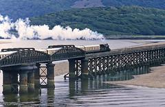 on the bridge (midcheshireman) Tags: steam train locomotive railway wales barmouth bridge