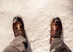 The first step (redgoldish) Tags: seoul korea nikond80 nikon perspective boots feet snow traveler way lookdown adventure stop walking