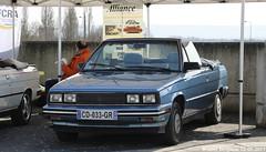 Renault Alliance cabriolet 1985 (XBXG) Tags: cd033gr renault alliance cabriolet 1985 amc renaultalliance cabrio convertible 30ème salon des belles champenoises époque reims marne 51 grand est champagne ardennes france frankrijk vintage old classic french car auto automobile voiture ancienne française vehicle outdoor bleu blue
