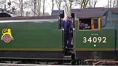 City of Wells & Joanne C (wontolla1 (Septuagenarian)) Tags: panasoniclumix14mmf25asphpancake steam loco elrnews elr eastlancsrailway bury lancs lancashire cityof wells cityofwells golden arrow joanne crompton green