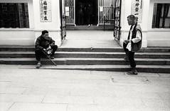 ...福蔭羣生 (David Davidoff) Tags: people street life folks drugaddicts goodfortune business earnaliving bless manmotemple steps sitting standing staircase entrance gate elderly oldman