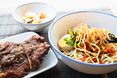 Spicy noodles (Patrick Foto ;)) Tags: asia asian background beef chicken chinese cooking cuisine delicious dinner dish egg food fry garlic gourmet healthy hot lunch meal meat noodle noodles onion plate pork restaurant sauce soup spicy style tasty top vegetable white