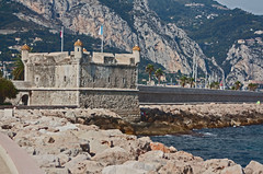 Riviera: Menton  9 Bastion (williamjosephmiller) Tags: riviera france mediterranean bastion fort mountains breakwater rocks coast méditerranéen bastione port harbor frankreich mittelmeer burg hafen küste fortaleza mediterráneo