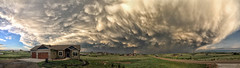 Mammatus_pano_HTC (northern_nights) Tags: mammatus clouds dusk sunset pano panorama cheyenne wyoming iphone5s sky rainbow wow therebeastormabrewin