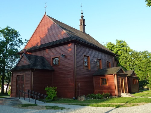 Kościół św. Wawrzyńca w Gliniance od południowego zachodu