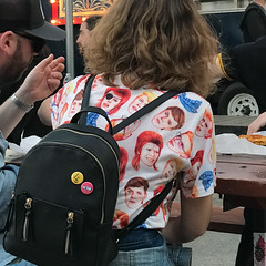 Bowie Shirt (Bill Oriani) Tags: 2017 apple austin bowie lightroomcc sxsw2017 tx texas iphone7 shirt sxsw