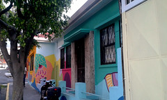 Barrio Aranjuez: colorido, creo que av.9, c.11-13/ Aranjuez neighborhood: colorful, I think 9th av., 11th-13th st.