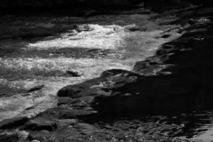 Weir (elhawk) Tags: bw rivermonnow monmouth weir