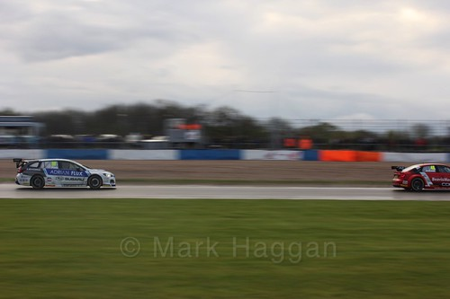 Jason Plato in race three at the British Touring Car Championship 2017 at Donington Park