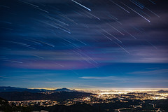 Stars over San Diego (Fluid Light Images) Tags: san diego sandiego stars starstax startrail sony fe28mm timelapse city lights night nightscape