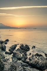 Barcos en el estrecho de Gibraltar, rincones de Ceuta. (picscarpemi) Tags: atardecer ceuta landscape paisaje sunset comunidadespañola