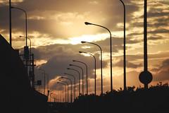 桃園・西濱 ∣ Highway 61・Taoyuan [EXPLORED] (Iyhon Chiu) Tags: sunset highway streetlights 街路灯 夕陽 coast 桃園 蘆竹 taoyuan 台灣 西濱 taiwan