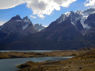 Torres del Paine Andes peaks and natural landscape - Patagonia, Chile