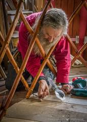 Man at yurt (Jon Bowles) Tags: yurt glensyurtfactory craftsman wood color portrait
