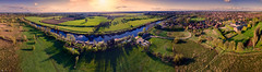 Smiling... :) (Kerriemeister) Tags: panorama panoramic york fulford ings aerial drone phantom3 dji yorkshire river ouse smile trees field