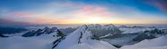 Sonnenaufgang am Nadelhorn (.hansn#) Tags: schweiz swiss mountain berg bergsteigen mountaineering hochtour alpin alpinism 4000 4000er nadelhorn 4327m gipfel sonnenaufgang sunrise top panorama wallis alpen saas fee grund ulrichshorn weissmies fletschhorn lagginhorn mischabel mischabelgruppe mischabelhütte ngc