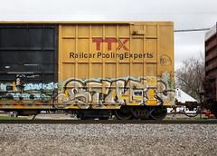 Stoer (quiet-silence) Tags: graffiti graff freight fr8 train railroad railcar art stoe stoer cdc boxcar ttx fbox fbox505830