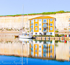 Reflections (Francesco Impellizzeri) Tags: brighton england marina water reflections
