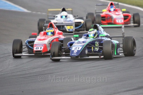 British F4 Race Two during the BTCC Weekend at Donington Park 2017