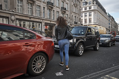 20170415T14-59-52Z-DSCF8105 (fitzrovialitter) Tags: england gbr oxfordcircus unitedkingdom geo:lat=5151545700 geo:lon=014190800 geotagged girl jeans fitzrovia fitzrovialitter camden westminster rubbish litter dumping flytipping trash garbage london urban street environment streetphotography westend peterfoster documentary fuji x70 fujifilm captureone littergram geosetter exiftool traffic crossing road cars vehicles leather jacket