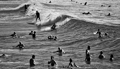 63+483: Dark side of the surf (geemuses) Tags: manlybeach manly nsw sun sand sea surf beach wave waves foam lip surfing surfer surfers girls landscape photo canon
