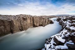 Geitá and a bit of snow (Þorkell) Tags: longexposure bigstopper river cliffs leefilter snow nikond750 nikkorafs1635mmf4gedvr rocks geitá