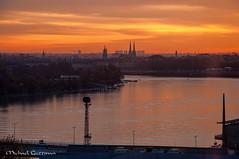 Bordeaux Sunset (Michael Guttman) Tags: sunset bordeaux france garonneriver lacitéduvin thecityofwine garonne city cityscape river view orange orangesunset silhouette