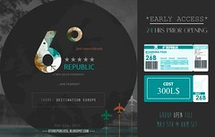 6º Republic - May 2017 Edition + VIP Pass (Mikaela Carpaccio - 6º Republic Event) Tags: 6 republic decor landscape may 2017 second life event home garden